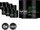 SYOSS Maxx Hold Cream Wax 150 ml - 6 stuks - Voordeelverpakking