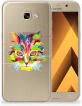 Samsung Galaxy A5 2017 Uniek TPU Hoesje Cat Color