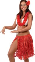 Hawaii Rokje Rood Set 3 delig