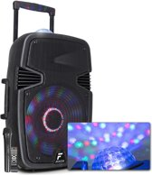 Fenton FT15JB mobiele Bluetooth speaker met Jelly Ball en UFO LED lichteffecten, draadloze microfoon en afstandsbediening