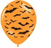 Halloween Ballonnen Vleermuis 30cm 6 stuks