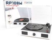 Fenton RP108W witte platenspeler met speakers