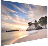Cathedral Cove Nieuw-Zeeland  Aluminium 120x80 cm - Foto print op Aluminium (metaal wanddecoratie)