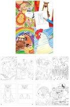 48 Stuks | Kleurboeken - Model: Dieren (Uitdeelcadeautjes)