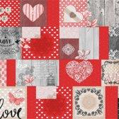PVC Tafellaken - Tafelkleed - Tafelzeil - Kerstmis - Feestdagen - Opgerold op koker - Geen plooien - Duurzaam - 140 cm x 500 cm - Sweet Love Rood
