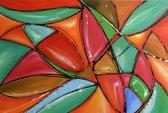 Schilderij abstract 90x60 Artello - Handgeschilderd - Woonkamer schilderij - Slaapkamer schilderij - Canvas - Modern