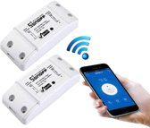 WiFi Schakelaar Smart Home 10A / 2200W Smart Switch met telefoon app / maakt alles slim / geschikt voor Amazon Echo en Google Home Duo Pack