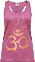 "Yoga-Racerback-Top ""OM sunray"" - rose wine copper L Loungewear shirt YOGISTAR"
