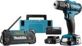 Makita CLX209SAJ Combiset - Boor-/schroefmachine + accuradio -10,8 volt
