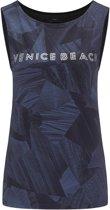 Venice Beach Kenny  Sporttop - Maat L  - Vrouwen - donker blauw/zwart