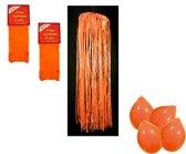 Oranje brandvertragende versiering