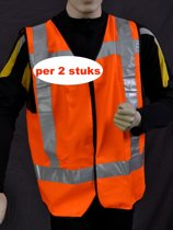 Safeways EN471 HiViz Veiligheidshesje - Reflectie - Klasse 2 - 2stuks
