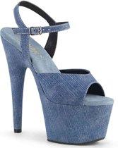 Pleaser Sandaal met enkelband -37 Shoes- ADORE-709WR Blauw