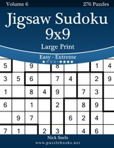 Omslag van 'Jigsaw Sudoku 9x9 Large Print - Easy to Extreme - Volume 6 - 276 Puzzles'