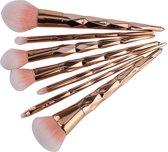 7-delige Make-up Kwasten/Brush Set | Shiny Rosegold | Fashion Favorite