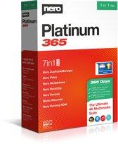 Nero Platinum 365 - 1 Apparaat/ 1 Jaar - Windows