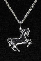 Zilveren Paard ketting hanger