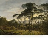 Houten paneel, golden age landscape, KEK Amsterdam, large