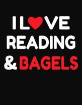 I Love Reading & Bagels: College Ruled Composition Writing Notebook Journal