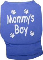 Nobby t-shirt mommy's boy blauw - 35 cm