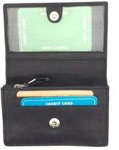 Kleine portemonnee leder zwart 29159
