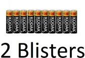 20 Stuks (2 Blister a 10 st) kodak xtralife AA Batterijen