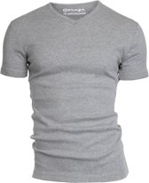 Garage 302 - T-shirt V-neck semi bodyfit black L 100% cotton 1x1 rib