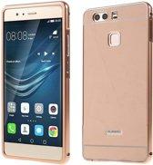 Huawei P9 Hoesje Metalen Frame Roze Gold