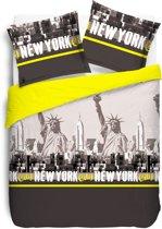 Vision New York Yellow - Dekbedovertrekset  140x200cm - éénpersoons
