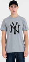 New Era TEAM LOGO TEE New York Yankees Shirt - Grey Med - XL