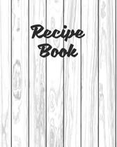 Recipe Book: Personalized Blank Cookbook and Custom Recipe Journal to Write in Cute Gift for Women Mom Wife: White Shiplap