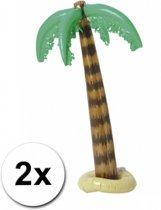 2x opblaasbare palmboom 90 cm