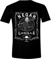 The Walking Dead - Negan Label Men T-Shirt - Zwart - Maat M