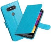 BestCases - Turquoise Portemonnee booktype hoesje LG Q8