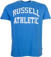 Russell t Shirt Groot Logo Blauw/wit