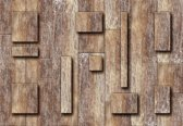 Fotobehang Wood Planks Abstract Texture | XL - 208cm x 146cm | 130g/m2 Vlies