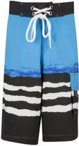UV werende Boardshort Kinderen Golf - Blauw - Maat 170-176