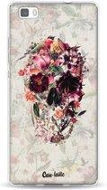 Casetastic Softcover Huawei P8 Lite - Flower Skull