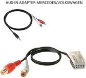 1424-03 Aux adapter Mercedes VW crafter NTG2  aux kabel 3,5mm jack