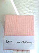 32 x 32 cm Aida 14 Count stof - Lichtroze borduurstramien - Touch of Pink borduurstof