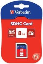 Verbatim, SECURE DIGITAL CARD 8GB c4 P-BLIST MIN. READ 4MB/SEC MIN. WRITE 4MB/SEC