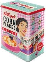 Nostalgic Art Bewaarblik met reliëf Kellogg's Corn Flakes