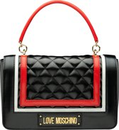 Love Moschino Striped Quilted Dames Schoudertas - Black Multi