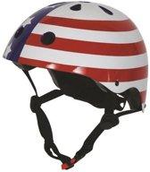 Kiddimoto - USA Flag - Small - Geschikt voor 2-6jarige of hoofdomtrek van 48 tot 52 cm - Design Skatehelm / Fietshelm