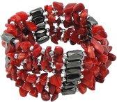 Koralen armband Wrap Magnetite Coral