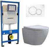 Geberit UP 320 Toiletset – Inbouw WC Hangtoilet Wandcloset – Shorty Sigma-01 Wit