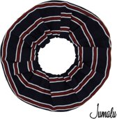 Jumalu sailor scrunchie velvet haarwokkel haarelastiekjes - blauw, rood en wit - 1 stuk