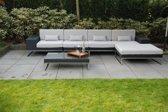 Arbrini Lineo Loungeset - 5-delig - Wicker - Zwart