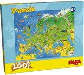Haba - Puzzel - Landen van Europa - 100st - XXL