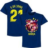 Barcelona F. De Jong 21 Gaudi Foto T-Shirt - Navy Blauw - XXL